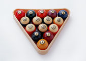 Billiard balls on a white background — Stock Photo