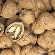 Ripe English walnuts — Stock Photo