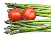 Asparagus and Tomatoes — Stock Photo