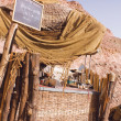 Bedouin cafe in the desert - 图库照片