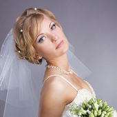 Young pretty bride portrait — Foto Stock