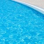 Swimming pool at hotel close up — Stock Photo