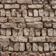 Royalty-Free Stock Photo: Wall from clay bricks as a background
