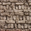 Wall from clay bricks as a background - Stock Photo