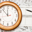 Composite of Calendar and Clock — Stock Photo #4063607