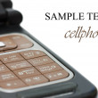 Cellphone  isolated on white background - Stock Photo