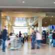 Blurred advancing through airport installations — Stock Photo