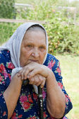 Portrait of the old woman — Foto Stock
