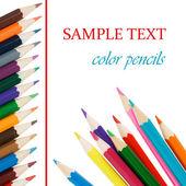 Lápis de cor, isolados no fundo branco — Fotografia Stock