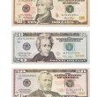 American dollar banknote isolated over white. Set — Stock Photo #4151067