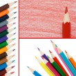 Colour pencils isolated on white background — Stock Photo #4151086