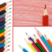 Colour pencils isolated on white background — Foto Stock