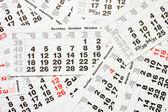 カレンダー シート — ストック写真
