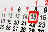 Page de calendrier indiquant la date d'aujourd'hui — Photo