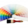 Color guide for selection isolated on white background — Stock Photo