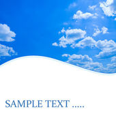 Blue sunny sky with space for some message — Stock Photo