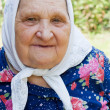 Portrait of the old woman — Stock Photo