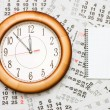 Stock Photo: Composite of Calendar and Clock