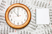 Composite of Calendar and Clock — Stock Photo