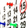 Royalty-Free Stock Photo: Page of calendar showing date of today