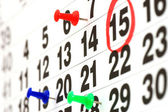 Seite des kalenders anzeigen datum von heute — Stockfoto