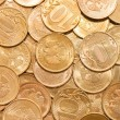 Coins macro close up background — Stock Photo #4430945