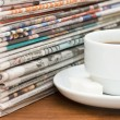 Cup from coffee and newspaper — Stock Photo #4454271