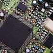 Detail of computer circuit board - Stock Photo