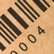 Stock Photo: Bar codes on box