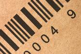 Bar codes on a box — Stock Photo