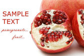 Pomegranate isolated on white background — 图库照片