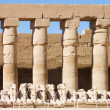 Statues in the ancient temple. Luxor. Egypt - Stock Photo
