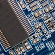 Stock Photo: Detail of computer circuit board