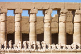 Statues in the ancient temple. Luxor. Egypt — Stock Photo