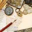 Old letters and pen as a background — Stock Photo #4679017