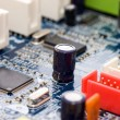 Detail of computer circuit board — Stock Photo #4748643