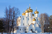 The old church of the city of Yaroslavl in winter — 图库照片