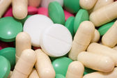 Heap of pills as a background — Stock Photo