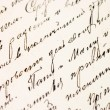 Old letter as a background — Stock Photo