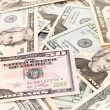Dollar banknotes, abstract business money background — Stock Photo