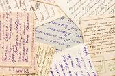 Alte briefe als hintergrund — Stockfoto