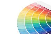 Beyaz arka plan üzerinde izole seçimi için renk kılavuzu — Stok fotoğraf