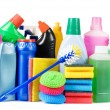 Assortment of means for cleaning isolated — Stock Photo #4874117