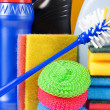 Assortment of means for cleaning - Stock Photo