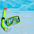 Mask for a swimming at pool - Stock Photo