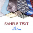 Set of Luxury ties on white background - Stock Photo