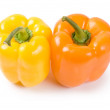 Two pepper isolated on white background — Stock Photo