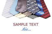 Set of Luxury ties on white background — Stock Photo