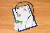 Puste schowka stetoskop nowoczesne — Zdjęcie stockowe