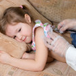 Stock Photo: Little girl is ill
